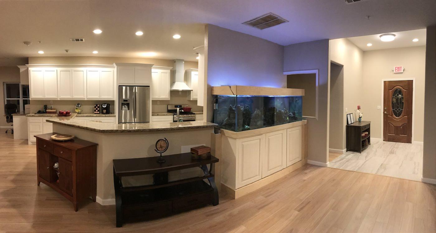 Kitchen & Fish Tank